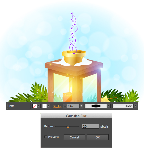 create smoke with gaussian blur