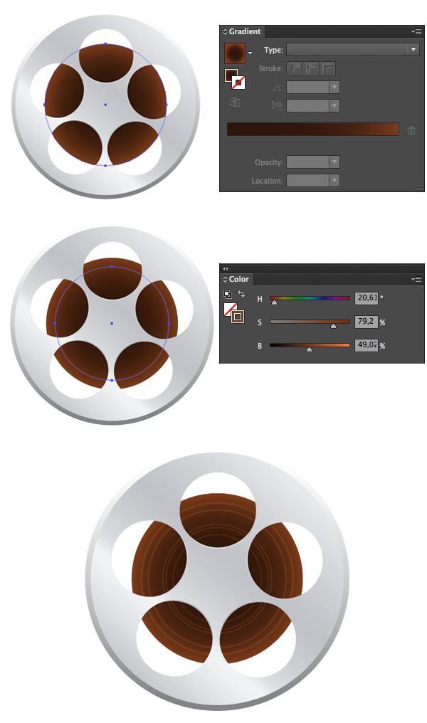 create the film reel