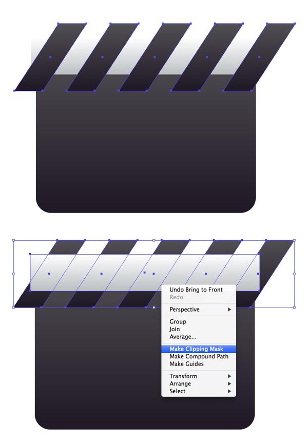 edit the clapper stripes