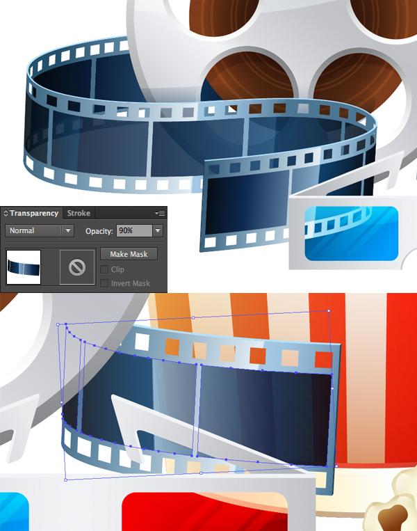 make the film frames transparent