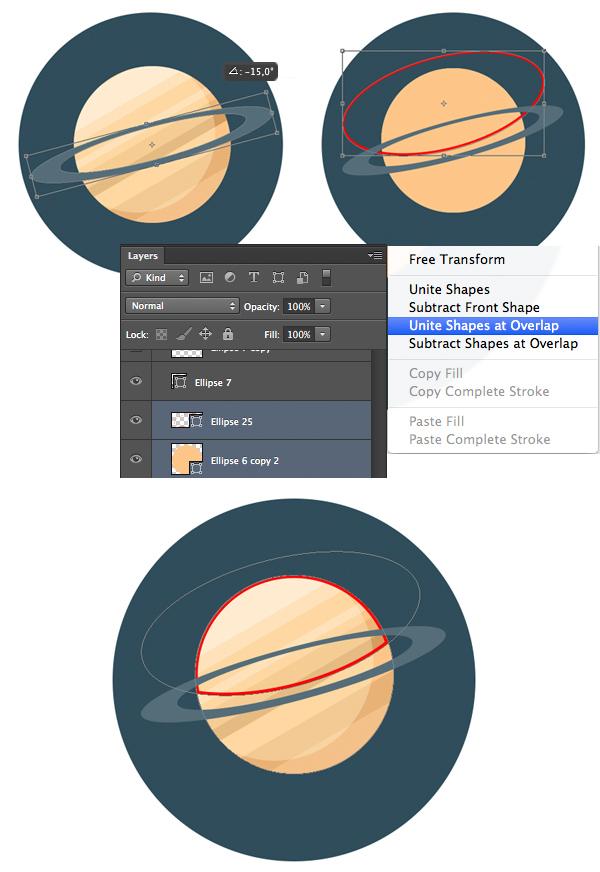 create a planet cap