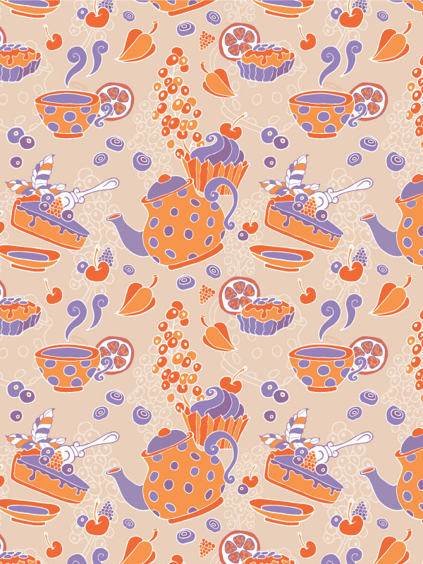 Create A Tea Party Seamless Pattern From A Sketch In Adobe Illustrator Beauteous Repeat Pattern Illustrator