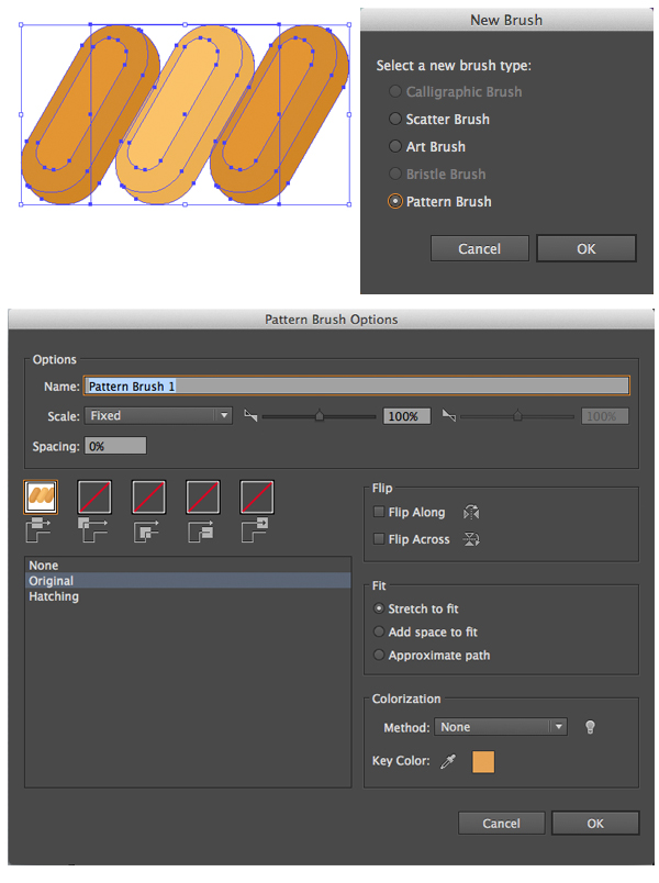 create a pattern brush