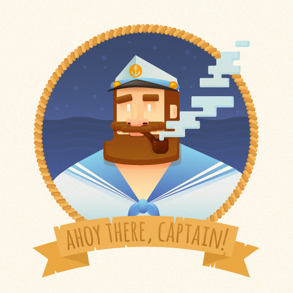 funny stylized captains portrait final result