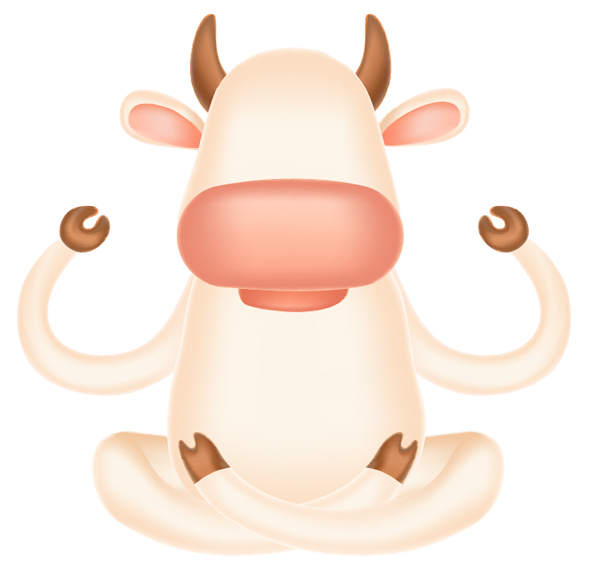 cow elements made with mesh
