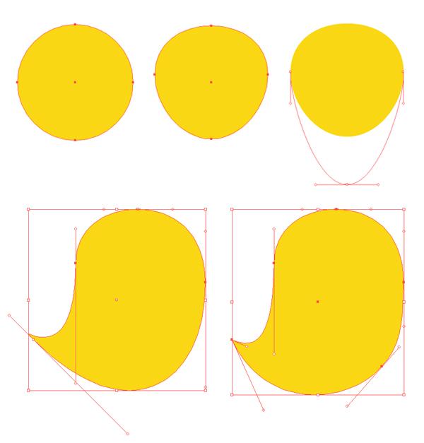 make a chicken body base from ellipse