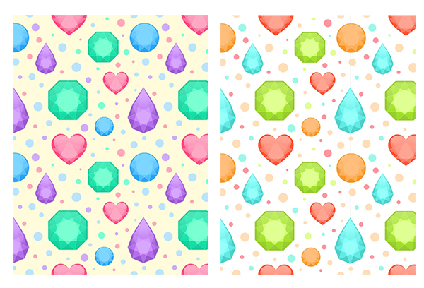 colors variations of the gems pattern