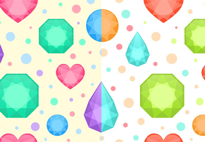 Gems seamless recolor pattern400
