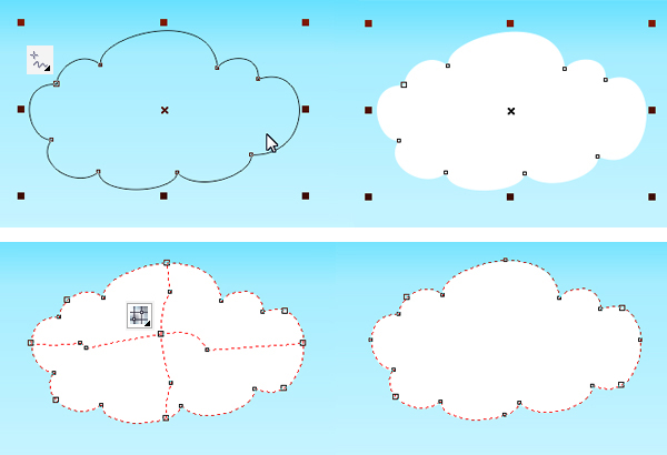 draw a cloud with freehand tool