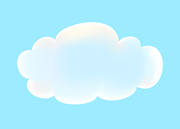 Cloud made with the Mesh fill tool