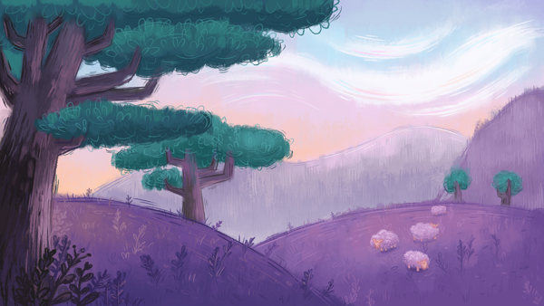 Pastel Painted Landscape