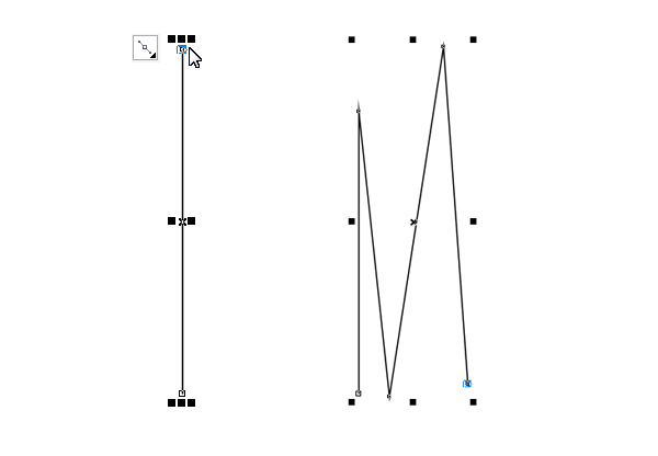 make zigzag lines with Bezier tool