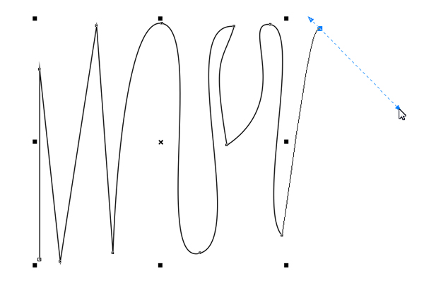 make a smooth curve with bezier tool