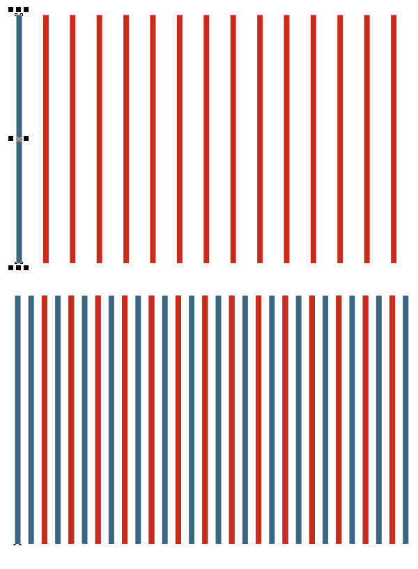create stripes with duplicate function 2