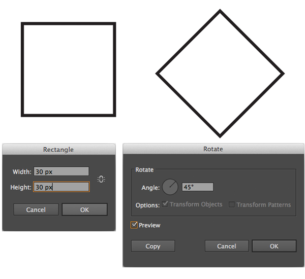 create a square with the Rectangle Tool