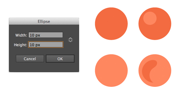 create caviar with the ellipse tool