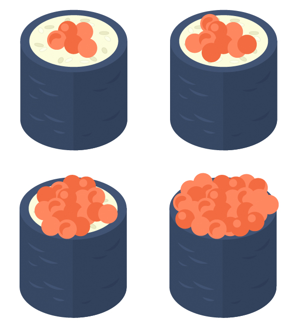 add more pieces of caviar
