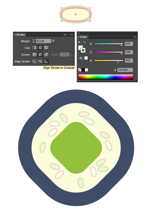 add grains of rice with the ellipse tool and stroke