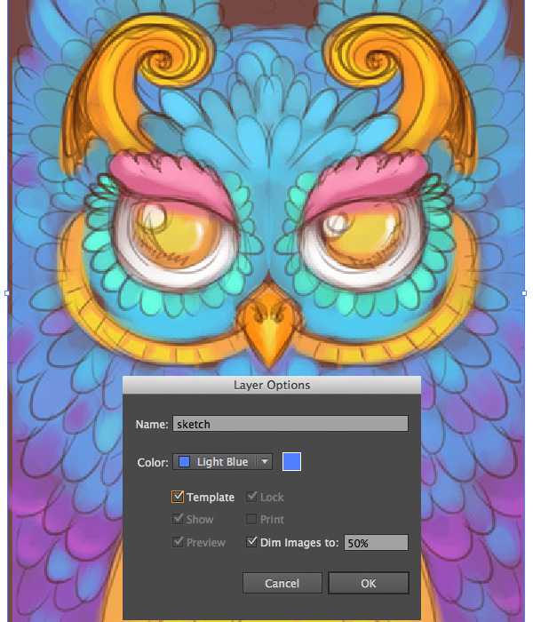 turn your sketch into a template in illustrator