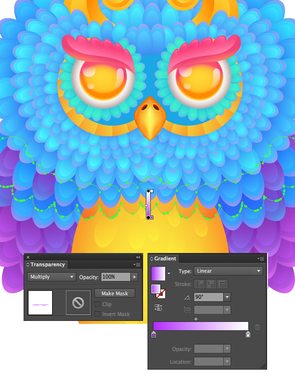 add shadows to separate the feathers 2