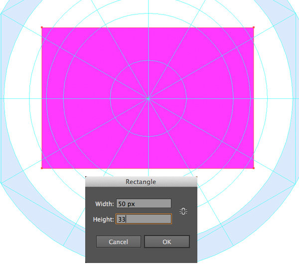 make the rectangle envelope base