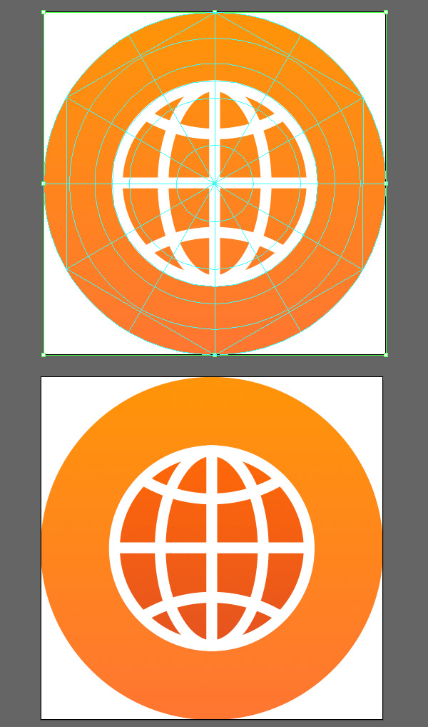 make the orange base for the globe icon