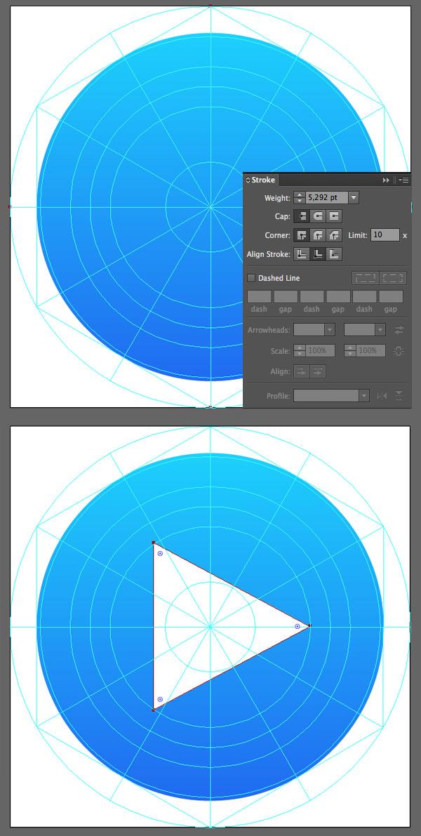 form the base and triangle shape