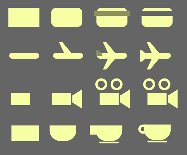 create pictograms from basic shapes