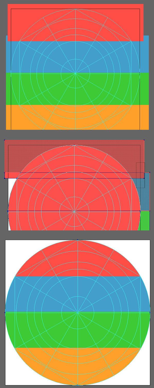create a striped icon base