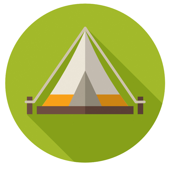 finished tent icon