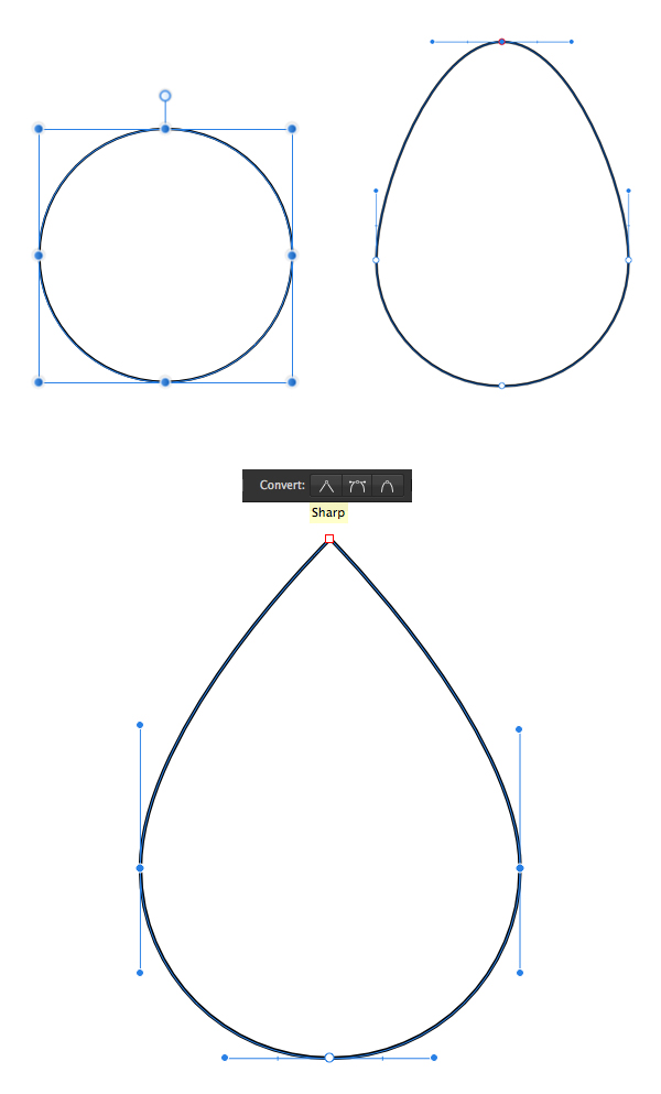 form the fire basic shape from ellipse