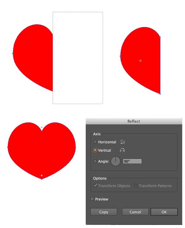 shape the heart suit symbol 3