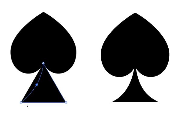 shape the spades suit symbol 2