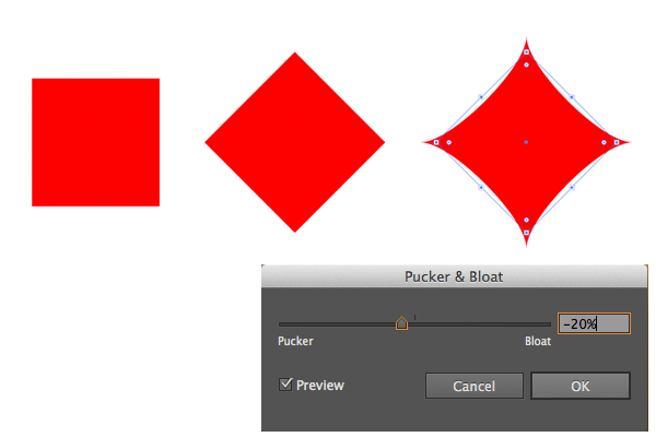 shape the diamond suit symbol