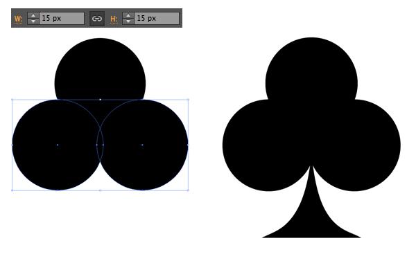 shape the clubs suit symbol