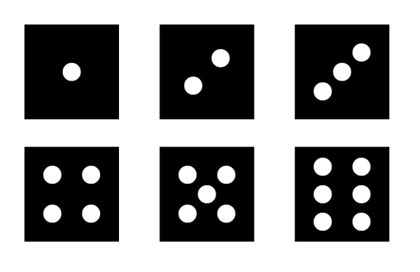 Form the patterns of the dots