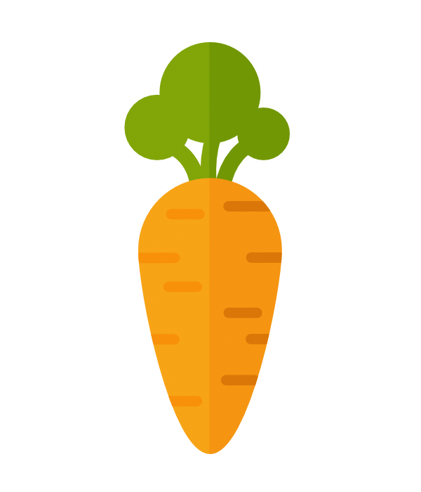 add more strokes to the carrot