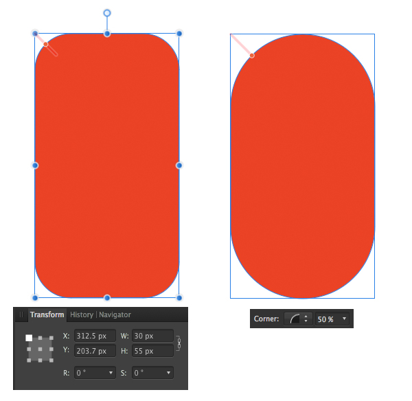 create the pepper base from rounded rectangle