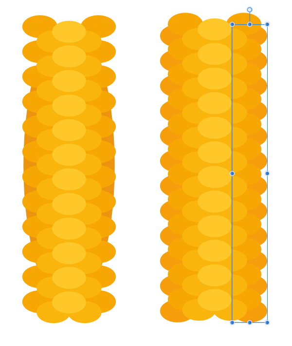 add more corn particles to the cob