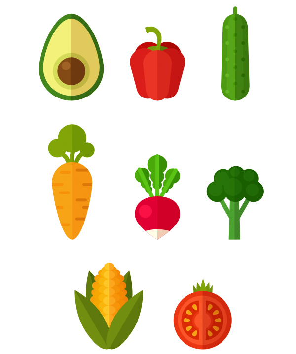 the set of healthy vegetables