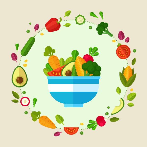 healthy vegetable poster is finished in affinity designer