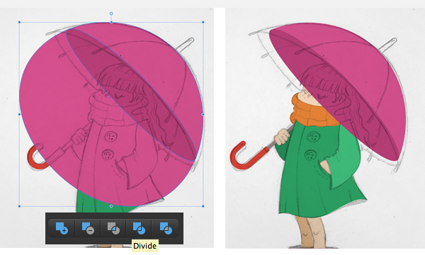 make an umbrella with the ellipse tool 2