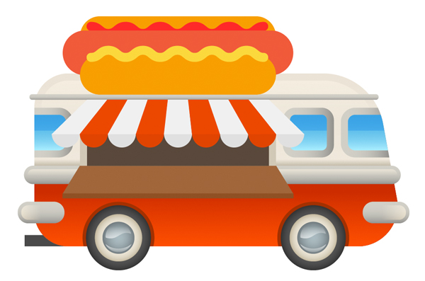 hot-dog van with details