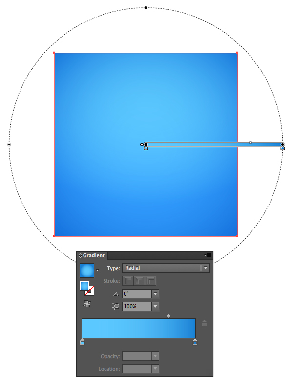make a bright-blue square background
