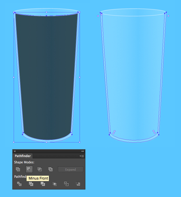 make the sides of the glass thicker