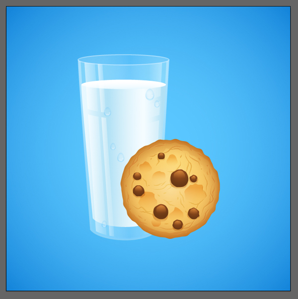 combine the cookie and the glass