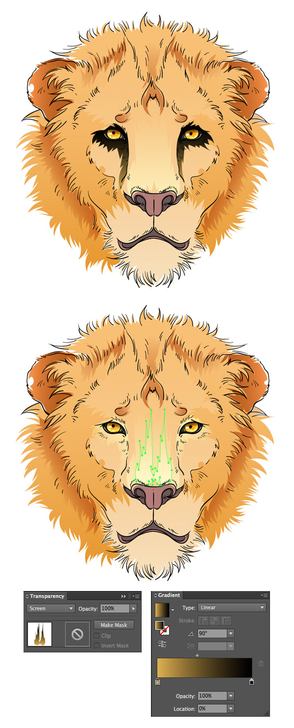 draw the cowardly lion from the wizard of oz in adobe illustrator