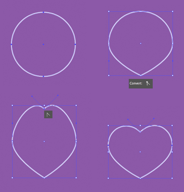 make a heart from a circle