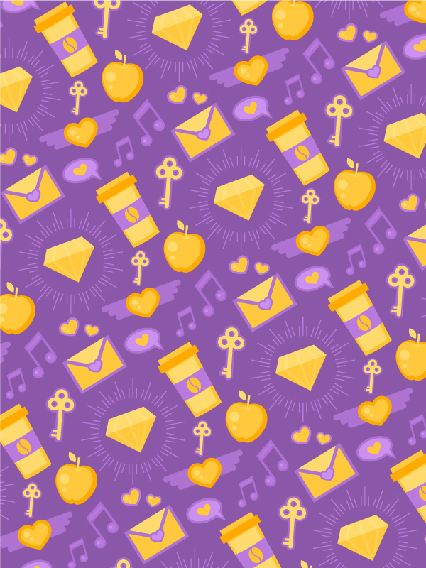 spirit day purple seamless pattern