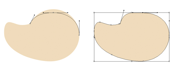 сделать форму плоской